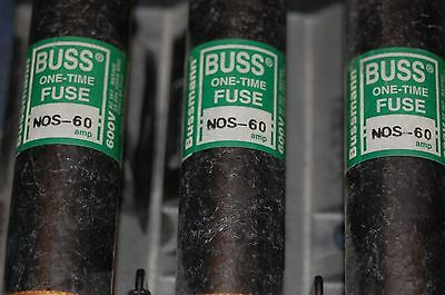 3 Buss NOS 60 60A fuses Buss fuse holder