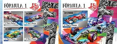 Z08 IMPERFORATED ST16517ab Sao Tome and Principe 2016 Formula 1 MNH Set