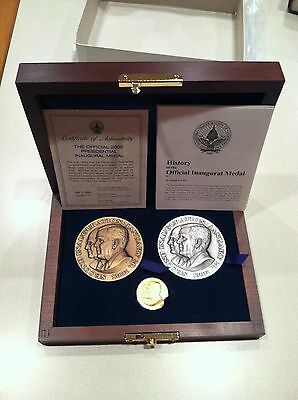 "2005 ""Official"" 3 Piece Inaugural GOLD/SILVER/BRONZE Medal Set - George W. Bush"