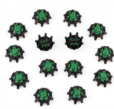 BLK & GREEN Golf Spikes Pins 1/4 Turn Fast Twist Shoe Spikes Replacement 14Pcs
