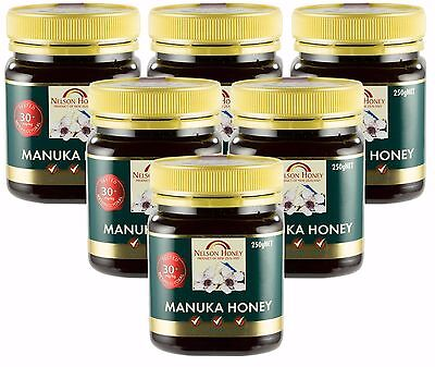Nelson Honey Manuka Honey, MG 30+ - 6 x 250g - SIX PACK