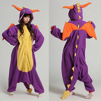 Adult Unisex Kigurumi Pajamas Animal Onesie Cosplay Costume Sleepwear Hot ##