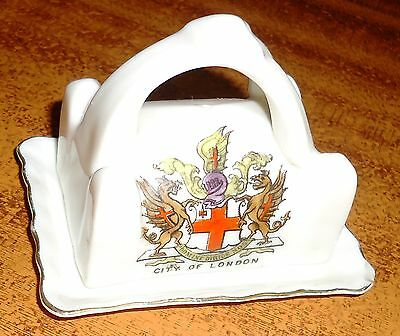 CITY OF LONDON Butter Dish GEMMA CRESTED CHINA Original