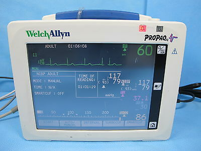 Welch Allyn Propaq CS Patient Monitor 242 with SpO2, NIBP, ECG Cables & Warranty