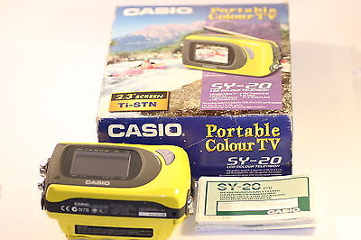"""Very Rare Casio SY-20 Handheld Colour TV 2.3"""" LCD"""