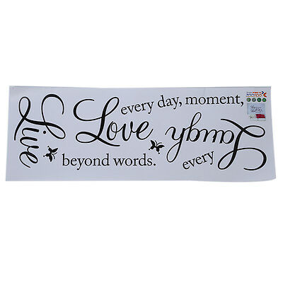 LIVE LAUGH LOVE Letters Removable Room Art Mural Wall Sticker Decal Home  BF