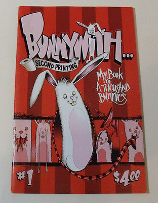 Alex Pardee BunnyWith #1 Comic Book zine My Book of a Thousand Bunnies With Art