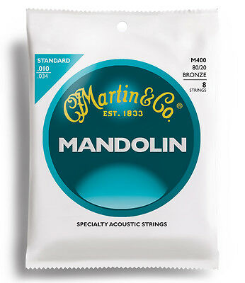Martin M400 Standard 80/20 Bronze Loop End Mandolin Strings .010-.034