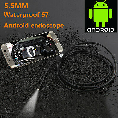 5.5mm 1M 1.3MP Android OTG Smart Phone Endoscope IP67 Inspection HD LED Camera