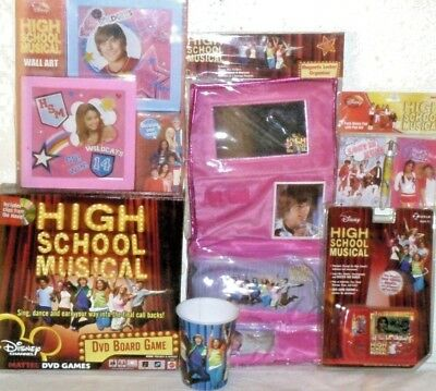 New High School Musical Toy Lot School Basket Supplies Zac Efron Toys Board Game