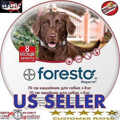 2 X Seresto Foresto Flea & Tick Collar for Large Dogs Over 18lbs EXP 07/22