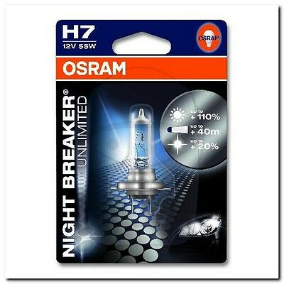 Lampe H7 12V55W 1er Blister Night Breaker Unlimited BULB H7 12V55W 1 PIECE BLIST