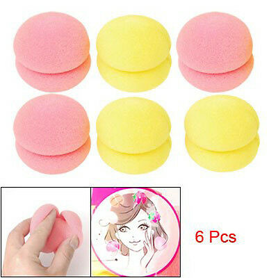 New 6Pcs DIY Soft Sponge Hair Care Styling Beauty Roller Balls Hair Curlers BF