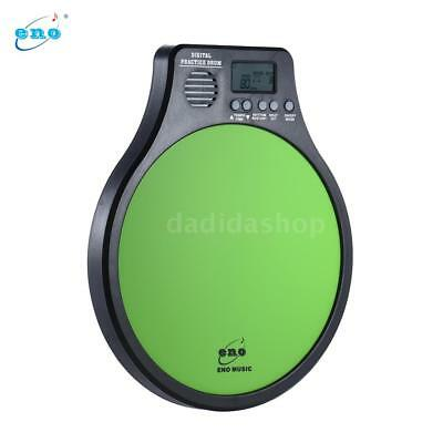 ENO Multifunction 3 in 1 Portable Electric Digital Practice Drum Pad Green X7A2