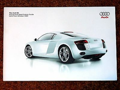 2007-08 Audi R8 4.2 V8 Pricing, Specifications & Colours Guide Brochure