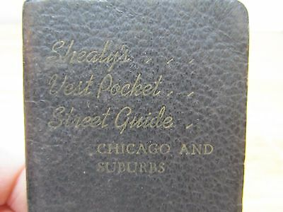 VTG Shealy's Vest Pocket Street Guide / Chicago 1950's With Transit Map