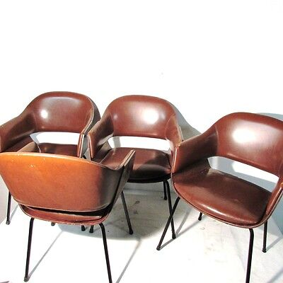 Carlo Ratti Lissone Anni 50 4 Poltroncine Chairs Armchairs Design Sedie Vintage