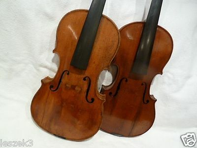Private COLLECTION to SELL - 74: A good two VIOLINS - GEIGEN  to repair !!!