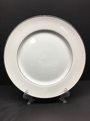 """Fine China of Japan 'Engagement' Chop 11"""" Dinner Plate White"""