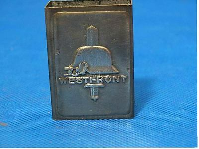 GERMAN WWII westfront MATCHBOX COVER W-trench art