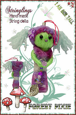 Stringlings String Doll, Voodoo Doll Lucky charm forest pixie. Keychain toy