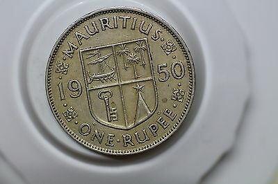 Mauritius 1 Rupee 1950 Nice Details A53 #6667