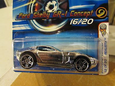 Hot Wheels Ford Shelby GR-1 Concept #016 2005 First Editions Chrome