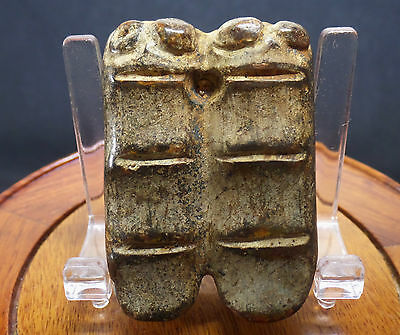 RARE Ancient Chinese Jade Double Cicada Imortality Heaven Amulet w/Characters!