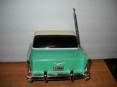 Vintage 1957 Chevrolet Bel Air 57 Chevy Aqua Blue Belair Am/fm Radio Beatland