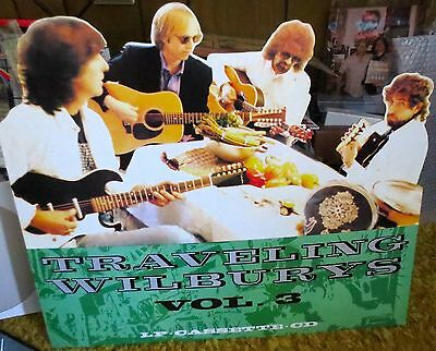Extremely Rare The Traveling Wilbury's cardboard poster-