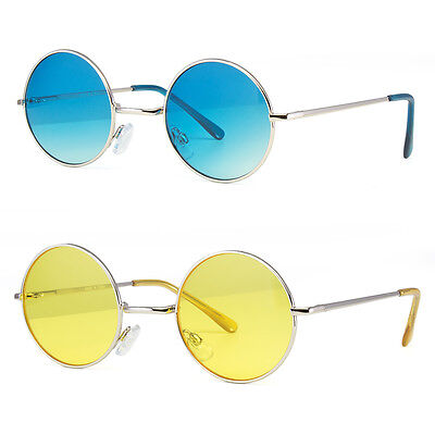 John Lennon Style Vintage Retro Classic Circle Round Sunglasses Small Medium Fit