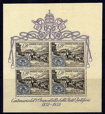 VATICAN Sc#155a S/S 1952 1st Stamp MNH