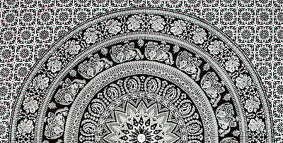 Indian Tapestry Wall Hanging Mandala Large Elephant Hippie Throw Bedspread