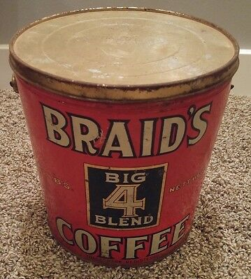 Braid's big 4 blend Coffee can Vancouver Canada rare department general store