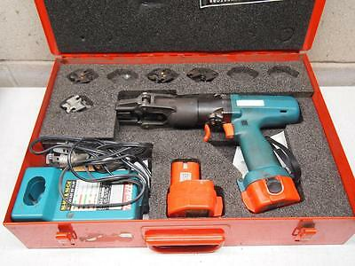 Burndy BCT500 Battery Crimp Tool with 5 Sets of Dies