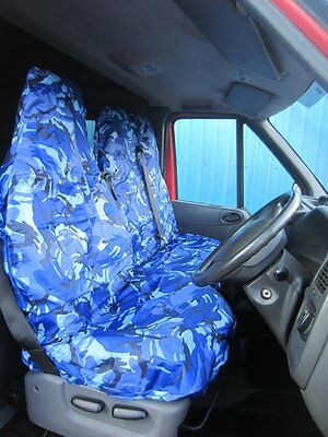 DELUXE BLUE PATCH VAN SEAT COVERS SINGLE CITROEN RELAY 2016 ON DOUBLE