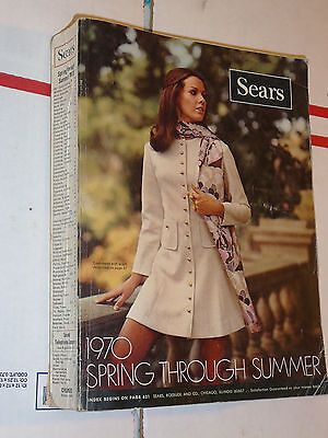 Sears Catalog 1970 Spring Summer Big Book-Vintage Fasions Tools-1593 pages