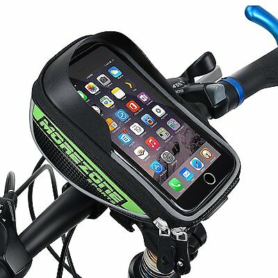 Bike Bag Bike Pouch, MOREZONE Cycling Bicycle Frame Bags For Cellphone