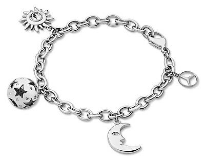 original Mercedes Benz Charms Ladies Arm Band Chain Barcelona 7 7/8in