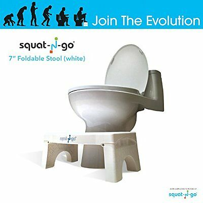 "Squat N Go 7"" Folding Squatting Stool Toilet Stool Travel Fits All Compact New"