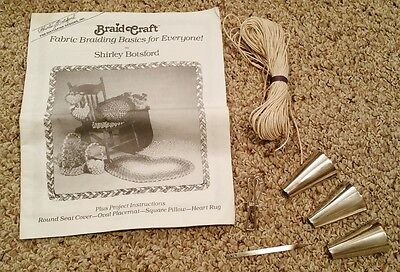 Rug Making Tool Set Kit Braid Craft Fabric Shirley Botsford Braided Rugs Book