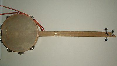 Cbg, Cigar Box Style Tambourine Guitar, New, Electro/acoustic, 3 String, 86