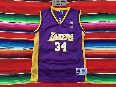 VTG Los Angeles LAKERS Shaquille O Neal Champion NBA basketball jersey Youth M 1