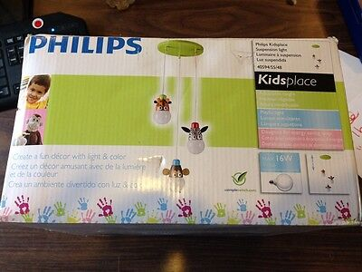 Philips KidsPlace Monkey Zebra Giraffe Ceiling Light Kids Room Babies Room NIB