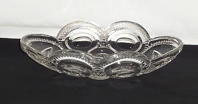 "LG Wright MOON & STARS CRYSTAL *8"" OVAL RELISH*"