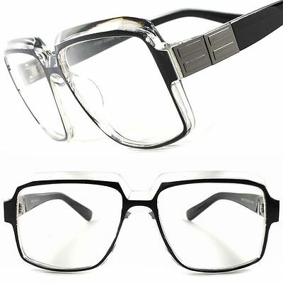 Classic Retro Fashion Swag Hip Hop Rapper Mens Womens Oversized Square Glasses