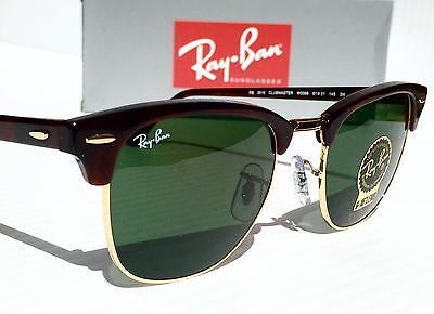 clubmaster classic green classic g 15  NEW Ray Ban Sunglasses RB 4246 901 51mm black Frame Green G-15 ...