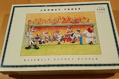 1993 Looney Tunes Baseball Dugout Puzzle Bugs Bunny Daffy Duck Taz
