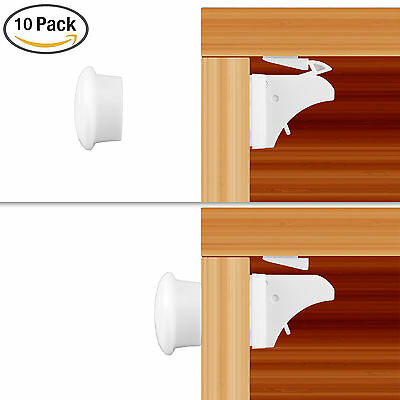 10pcs Magnetic Baby Child Kids Proof Cupboard Cabinet Drawer Safety Lock