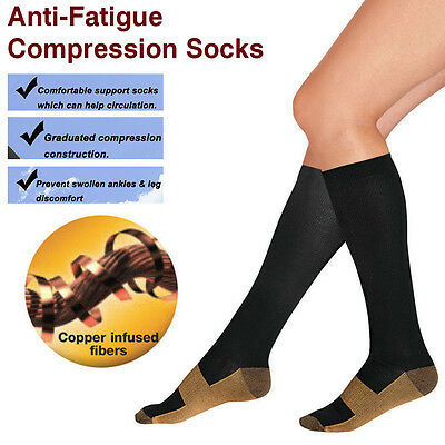 Knee High Foot Compression Socks Leg Brace Support Plantar Fasciitis Stockings